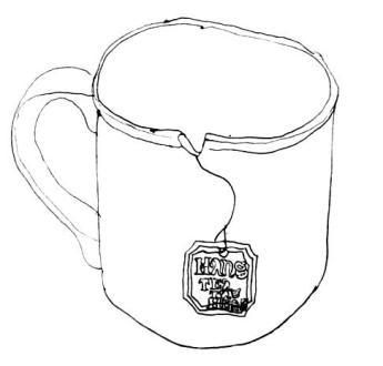 Erica Parrot   Tea Mug, back