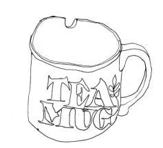 Erica Parrot | Tea Mug, front