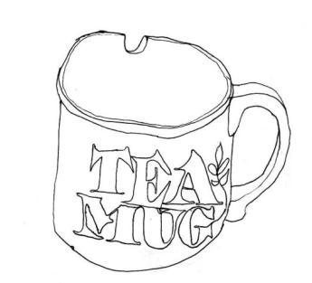 Erica Parrot   Tea Mug, front