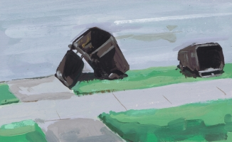 Garbage Cans by John Forse