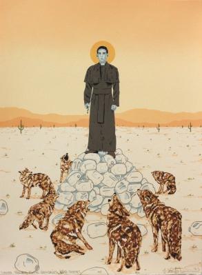 Santo Toribio Romo Gonzalez y Los Coyotes by J. Leigh Garcia