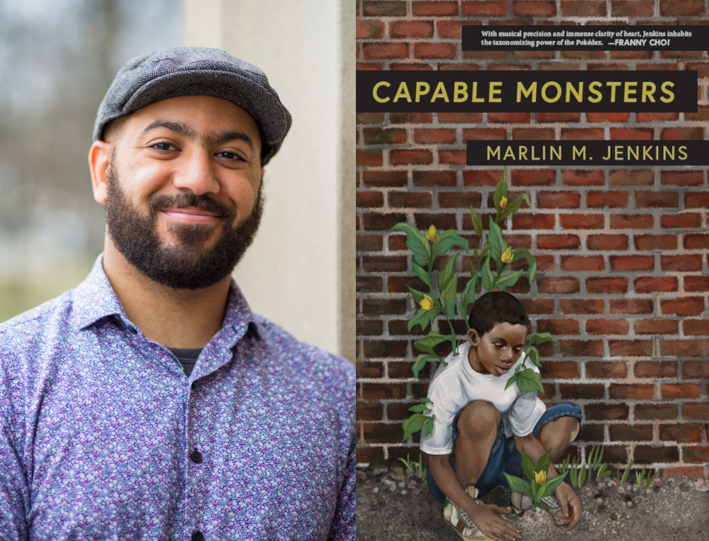 Picture of Marlin M. Jenkins along with cover for Capable Monsters